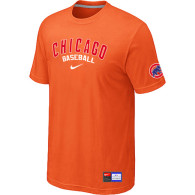 Chicago Cubs Orange Nike Short Sleeve Practice T-Shirt