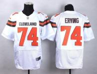 Nike Cleveland Browns -74 Cameron Erving White Men's Stitched NFL New Elite Jersey