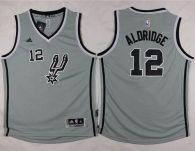 San Antonio Spurs #12 LaMarcus Aldridge Grey Youth Stitched NBA Jersey