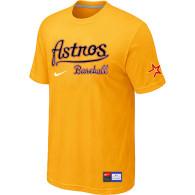 MLB Houston Astros Yellow Nike Short Sleeve Practice T-Shirt