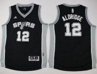 San Antonio Spurs #12 LaMarcus Aldridge Black Youth Stitched NBA Jersey
