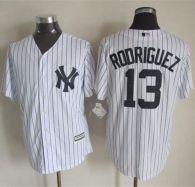 New York Yankees -13 Alex Rodriguez New White Strip Cool Base Stitched MLB Jersey