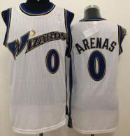 Revolution 30 Washington Wizards -0 Gilbert Arenas White Stitched NBA Jersey