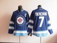 Winnipeg Jets -7 Keith Tkachuk Stitched Dark Blue 2011 Style NHL Jersey
