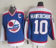 Winnipeg Jets -10 Dale Hawerchuk Blue White CCM Throwback Stitched NHL Jersey
