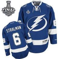 Tampa Bay Lightning -6 Anton Stralman Blue 2015 Stanley Cup Stitched NHL Jersey