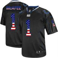 Nike Indianapolis Colts #1 Pat McAfee Black Men's Stitched NFL Elite USA Flag Fashion Jersey