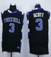 One Tree Hill Ravens -3 Lucas Scott Black Stitched Basketball Jersey