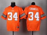 Nike Cleveland Browns -34 Isaiah Crowell Orange Alternate Men's Stitched NFL Elite Jersey