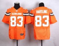 Nike Cleveland Browns -83 Brian Hartline Orange Alternate Men's Stitched NFL New Elite Jersey