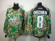 Washington Capitals -8 Alex Ovechkin Camo Veterans Day Practice Stitched NHL Jersey