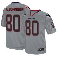 Nike Houston Texans #80 Andre Johnson Lights Out Grey Men's Stitched NFL Elite Jersey