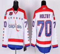 Washington Capitals -70 Braden Holtby White 2011 Winter Classic Vintage 40th Anniversary Stitched NH
