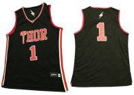 Thor -1 Black Stitched Basketball Jersey