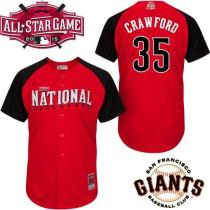San Francisco Giants #35 Brandon Crawford Red 2015 All-Star National League Stitched MLB jerseys