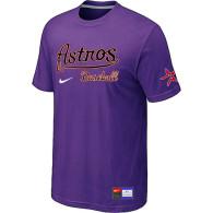 MLB Houston Astros Purple Nike Short Sleeve Practice T-Shirt