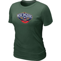 New Orleans Pelicans Big Tall Primary Logo Women T-Shirt (5)