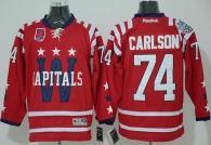 Washington Capitals -74 John Carlson 2015 Winter Classic Red 40th Anniversary Stitched NHL Jersey
