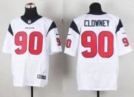 Nike Houston Texans #90 Jadeveon Clowney White Men's Stitched NFL Elite Jersey