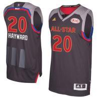 Utah Jazz -20 Gordon Hayward Charcoal 2017 All Star Stitched NBA Jersey