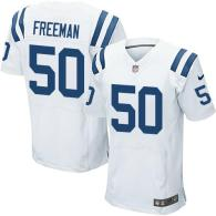 Nike Indianapolis Colts #50 Jerrell Freeman White Men's Stitched NFL Elite Jersey