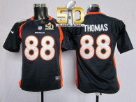 Nike Denver Broncos #88 Demaryius Thomas Blue Alternate Super Bowl 50 Youth Stitched NFL Elite Jerse