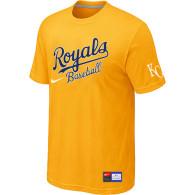 MLB Kansas City Royals Yellow Nike  Short Sleeve Practice T-Shirt