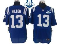 Nike Indianapolis Colts #13 TY Hilton Royal Blue Team Color With 30TH Seasons Patch Men's Stitched N