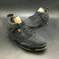 "Authentic levi's x Air Jordan 4 GS ""Black Denim"""