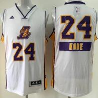 Los Angeles Lakers #24 Kobe Bryant White 2014-15 Christmas Day Stitched Youth NBA Jersey