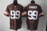 Nike Cleveland Browns -99 Paul Kruger Brown Team Color Men's Stitched NFL Elite Jersey