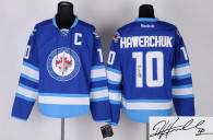 Autographed Winnipeg Jets -10 Dale Hawerchuk Stitched Blue 2011 Style NHL Jersey