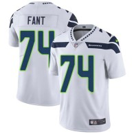 Nike Seahawks -74 George Fant White Stitched NFL Vapor Untouchable Limited Jersey