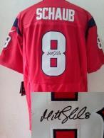 Nike Houston Texans #8 Matt Schaub Red Alternate Men's Stitched NFL Elite Autographed Jersey