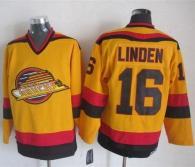 Vancouver Canucks -16 Trevor Linden Gold CCM Throwback Stitched NHL Jersey