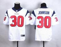 Nike Houston Texans #30 Kevin Johnson White Men's Stitched NFL Elite Jersey