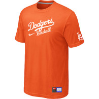 Los Angeles Dodgers Nike Short Sleeve Practice T-Shirt Orange