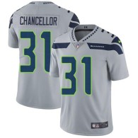 Nike Seahawks -31 Kam Chancellor Grey Alternate Stitched NFL Vapor Untouchable Limited Jersey