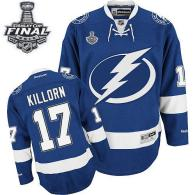 Tampa Bay Lightning -17 Alex Killorn Blue 2015 Stanley Cup Stitched NHL Jersey