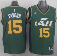 Revolution 30 Utah Jazz -15 Derrick Favors Green Stitched NBA Jersey