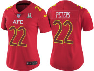 WOMEN'S AFC 2017 PRO BOWL KANSAS CITY CHIEFS #22 MARCUS PETERS RED GAME JERSEY