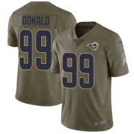 Nike Rams -99 Aaron Donald Olive Stitched NFL Limited 2017 Salute to Service Jersey