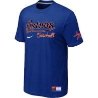 MLB Houston Astros Blue Nike Short Sleeve Practice T-Shirt