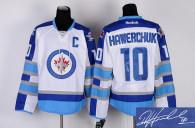Autographed Winnipeg Jets -10 Dale Hawerchuk Stitched White 2011 Style NHL Jersey