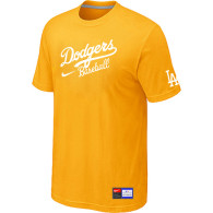 Los Angeles Dodgers Nike Short Sleeve Practice T-Shirt Yellow