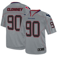 Nike Houston Texans #90 Jadeveon Clowney Lights Out Grey Men's Stitched NFL Elite Jersey