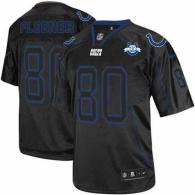 Nike Indianapolis Colts #80 Coby Fleener Lights Out Black With 30TH Seasons Patch Men's Stitched NFL