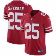 Nike 49ers -25 Richard Sherman Red Team Color Stitched NFL Vapor Untouchable Limited Jersey