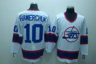 Winnipeg Jets -10 Dale Hawerchuk Stitched White CCM Throwback NHL Jersey