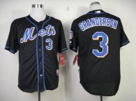 New York Mets -3 Curtis Granderson Black Cool Base Stitched MLB Jersey
